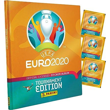Panini France SA Euro 2020 Stickers 2021 Tournament Edition 10 Pochettes + Album Offert