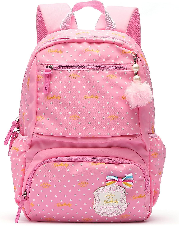 Ali Victory Waterproof Cute Backpack for Girls Large Kids Bookbag (Large, Pink)