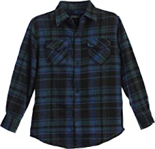 Gioberti Boys Long Sleeve Plaid Checked Flannel Shirt
