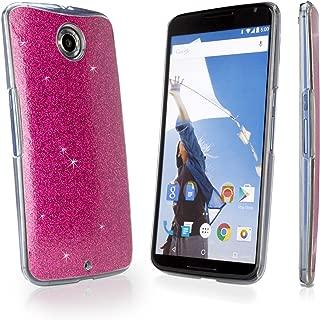 Nexus 6 Case, BoxWave [Glitter & Glitz Case] Colorful, Sparkly Snap-On Glitter Cover for Google Nexus 6 - Cosmo Pink