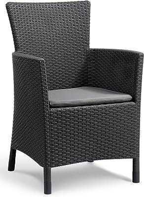 Keter Iowa–Garden Armchair 60x62x89 cm graphite grey