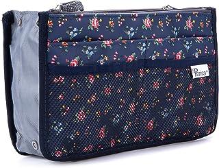 Periea Handbag Organiser - Chelsy - 28 Colours Available - Small, Medium Large (Large, Floral Blue)