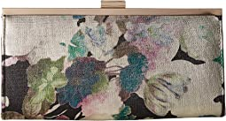 Jessica McClintock - Laura Metallic Floral Framed Clutch