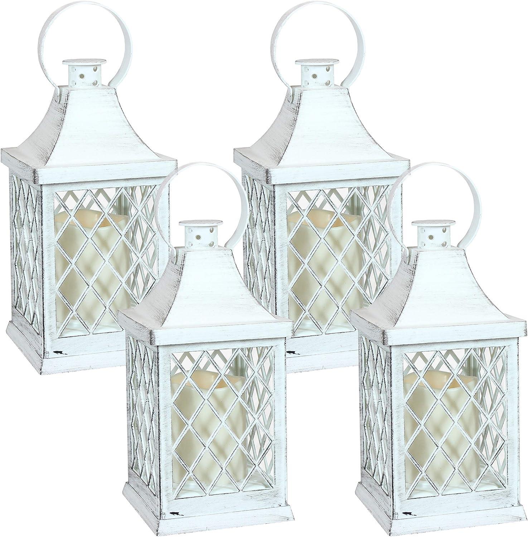 Sunnydaze 2021 Ligonier Indoor Columbus Mall Decorative LED of Candle - Set Lantern