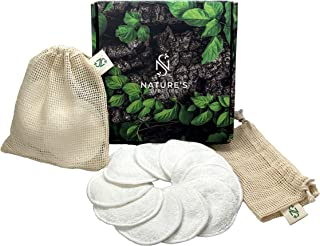 Bamboo Cotton Reusable Makeup Remover Pads (20 Pack) with 2 Laundry Bags – Natural Reusable Cotton Rounds, Washable - Zero Waste, Reusable Cotton Pads for Face