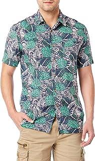پیراهن بافته ای دکمه ای آستین کوتاه کلاسیک مردان UNIONBAY