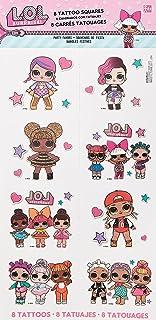 Amscan Girls Birthday LOL Surprise! Tattoo Favors 8pcs