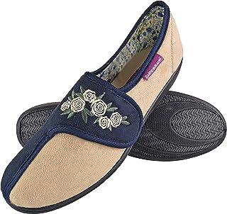 DUNLOP - Mujer Pantuflas Ortopedicas Zapatillas de Estar