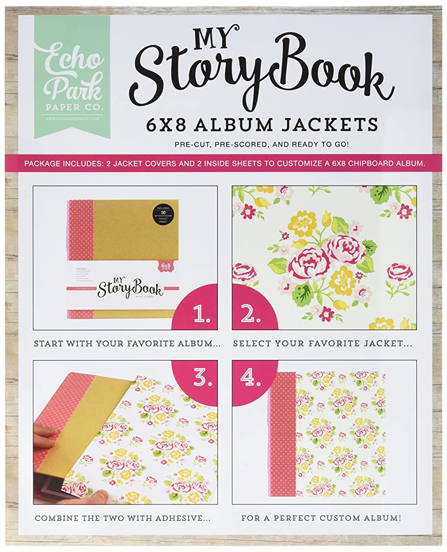 Echo Park Paper Company PC103038 Petticoats & Pinstripes Girl My Story Book Album Jacket
