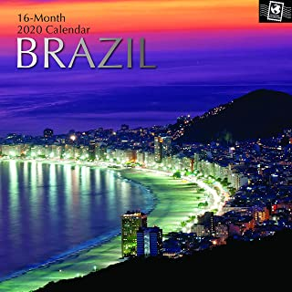 2020 Wall Calendar - Brazil Calendar, 12 x 12 Inch Monthly View, 16-Month, Includes 180 Reminder Stickers