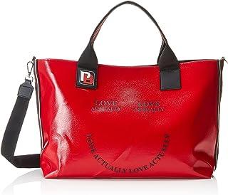 Pinko Actually Shopping Canvas Cerato,女式手提包,红色(玫瑰色),18x35x41 厘米(宽 x 高)