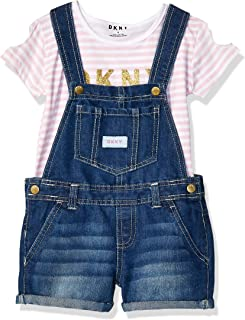 DKNY Girls' 2 Piece Fashion Top and Shortall Set