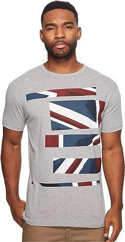 Ben Sherman - Union Jack Stripe Print Tee