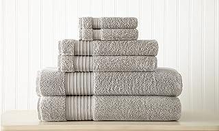 Amrapur Overseas 6-Piece Ultra Soft 700GSM 100% Turkish Cotton Towel Set [Grey]
