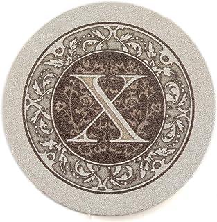 Thirstystone Drink Coaster Set, Monogram X