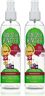 Fresh Monster Toxin-free Hypoallergenic Kids Detangler Spray, Watermelon, 2Count, 8 oz