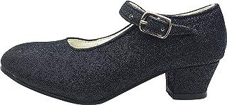 La Senorita La Senorita Spanische Flamenco Schuhe - Schwarz Glitzer Größe 38 = Größe 36 DE - Innenmaß 23 cm