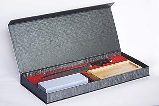 ZonChef - Cuchillo japonés VG10, 67 capas de acero de Damasco, 2,5 mm de grosor, cuchillo de cocina afilado, pulido espejo, mango G10, 1 piedra de afilar para clavos de cobre #3000/#8000