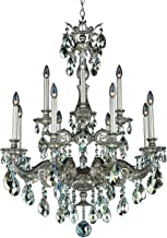 product image for Schonbek 5683-22S Milano 12 Light 110V Chandelier in Heirloom Gold with Clear Crystals from Swarovski