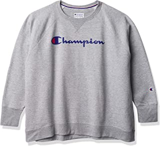 Champion Women's Plus Size Crewneck, Oxford Gray, 1X