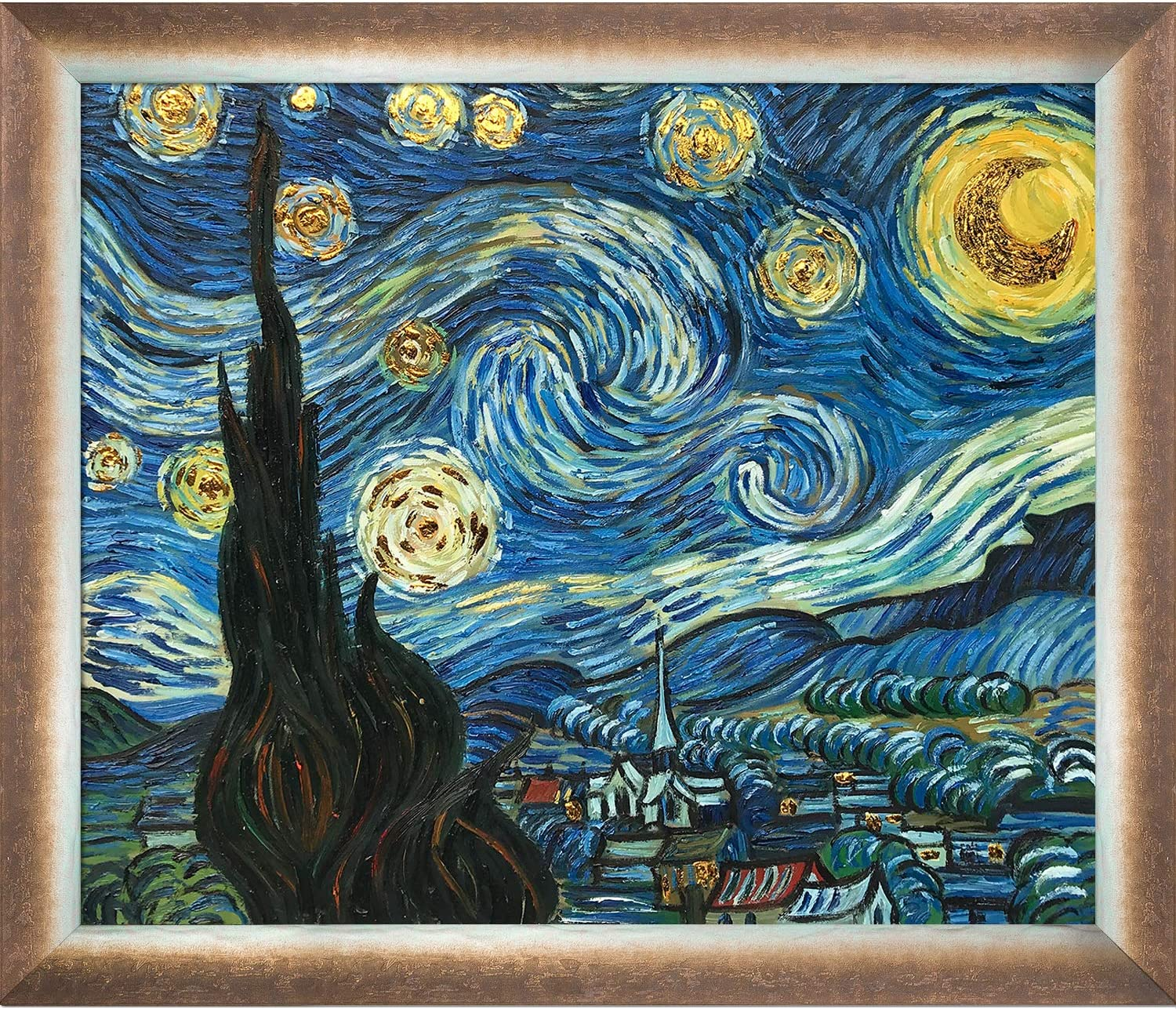 Tulsa Mall La Pastiche Starry Night Luxury Online limited product Line Oil Painting 28
