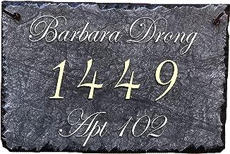 hanging slate address plaque