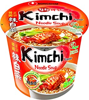 NongShim Cup Noodle Soup, Kimchi, 2.64 Ounce (Pack of 6)
