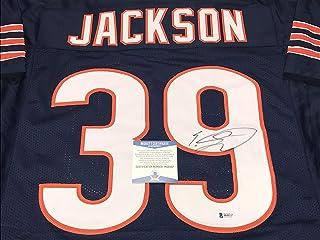 e7abe1bbb04 Eddie Jackson #39 Bears Autographed Signed Jersey Blue Beckett WITNESS COA