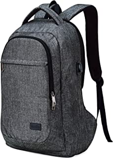 MarsBro Laptop Backpack, Anti Theft Business Water Resistant 15.6 Inch with USB Charging Port Travel College Computer Bag, Grey
