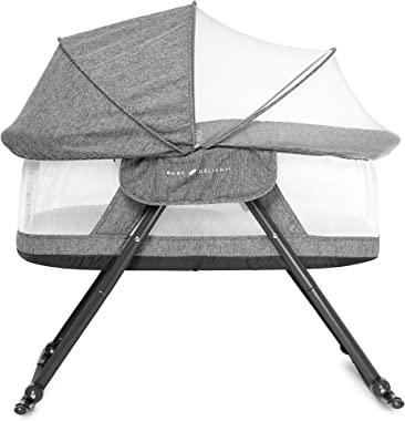 Baby Delight Go With Me Slumber Deluxe Portable Rocking Bassinet, Charcoal Tweed Fashion
