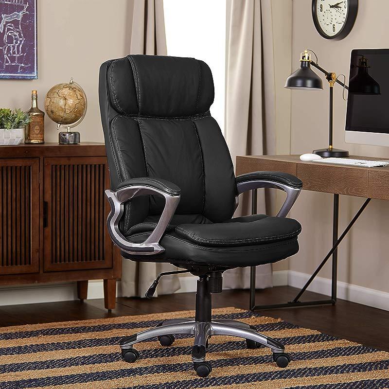 Serta 43675 Faux Leather Big Tall Executive Chair Black