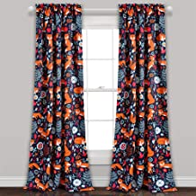 "Lush Decor Lush Décor Pixie Fox Room Darkening Window Curtain Pair, Panel 84"" x 52"", Navy"