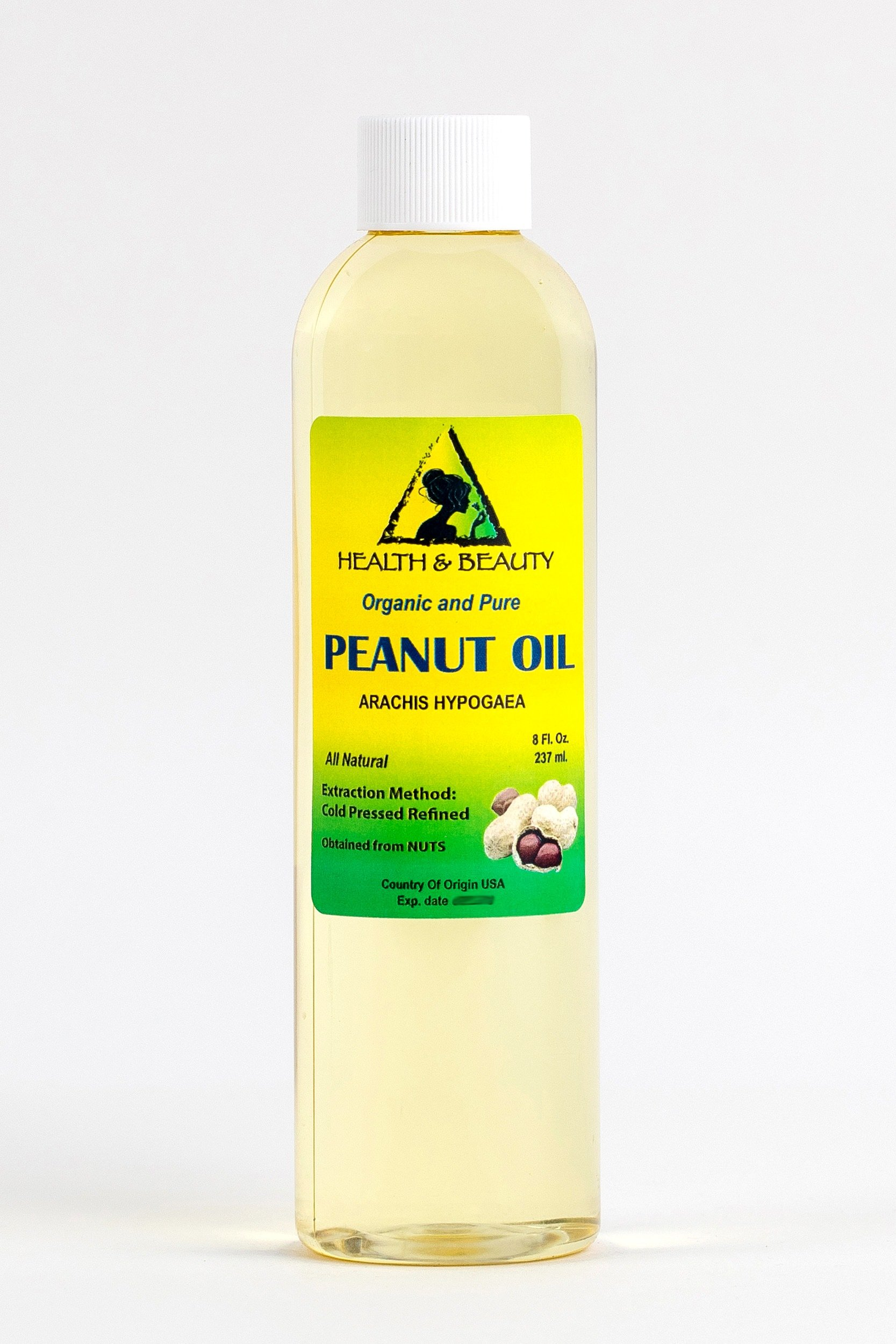 Peanut Oil Refined Organic Carrier Cold Pressed 100% Pure 8 oz
