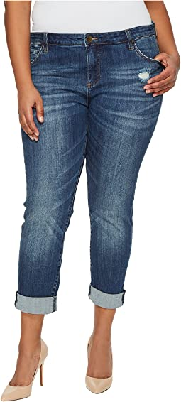 KUT from the Kloth - Plus Size Catherine Boyfriend in Doubtless/Medium Base Wash