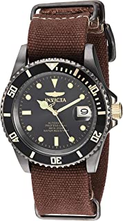 Invicta Men's Pro Diver Stainless Steel Automatic-self-Wind Watch with Nylon Strap
