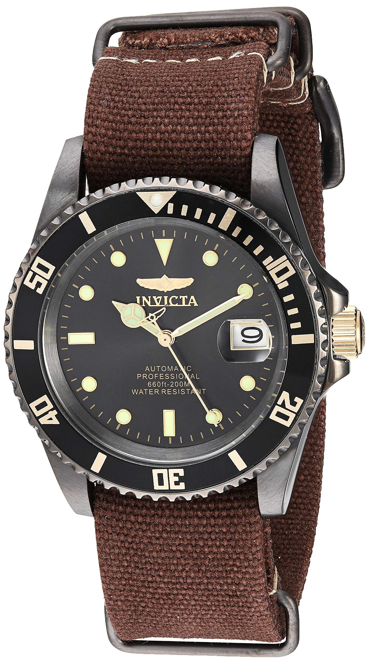 Invicta Stainless Automatic self Wind Diving Canvas
