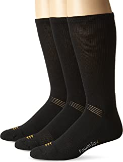 PowerSox Men's 3-Pack Cushion Crew Socks with Coolmax