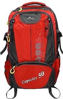 Mochila Unisex para Viaje Senderismo Camping Tiempo Libre Capacity II con 3 Bolsillos Volumen de 28 litros Color Rojo