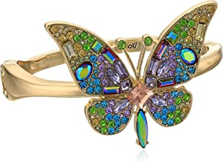 Betsey Johnson Womens Blooming Betsey Butterfly Statement Bracelet, Multi, One Size