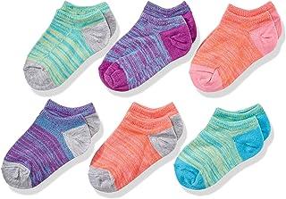 Fruit of the Loom Girls' No Show Socks-6 Pack