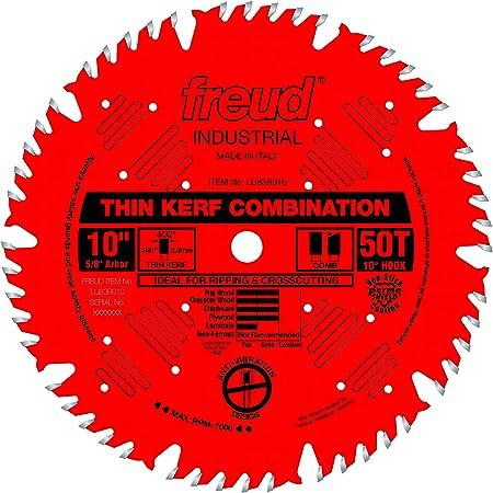 """Freud 10"""" x 50T Thin Kerf Combination Blade (LU83R010)"""
