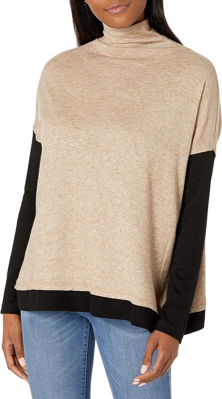 Karen Kane Women's Cowl Neck Colorblock Sweater