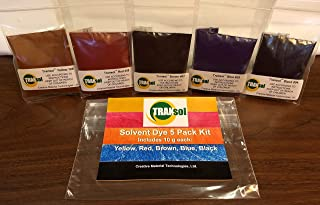 Wood Dye – Powdered Solvent 5 Color Kit – Wood Stain Kit (50 Grams)
