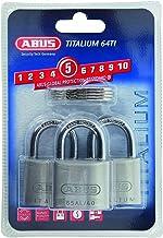 ABUS 64ti/40 Titalium Padlock 40 mm Triple Pack