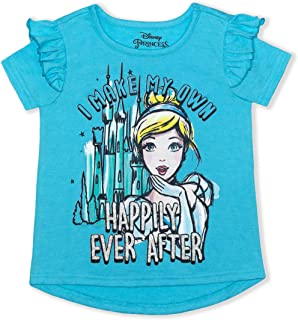 Disney Cinderella Girl's Happily Ever After Pullover Summer Blouse Tee Shirt