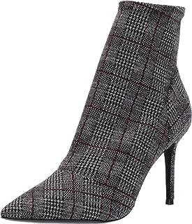 Charles by Charles David Women's Venus Fashion Boot, Grey/Red, 9 M US