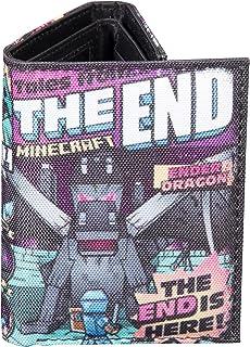 JINX Minecraft Tales from the End Cartera de nailon con tres pliegues (multicolor, talla