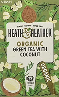 Heath & Heather, Tea Green With Coconut Organic, 20 Count