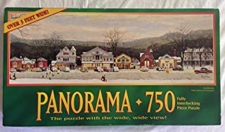 Norman Rockwell Panorama 750 Piece Puzzle - Stockbridge Main Street At Christmas - Over 3 Feet Wide