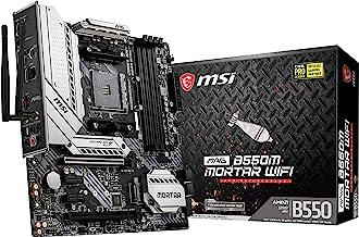 MSI MAG B550M Mortar WiFi Gaming Motherboard (AMD AM4, DDR4, PCIe 4.0, SATA 6Gb/s, M.2, USB 3.2 Gen 2, AX Wi-Fi 6, HDMI/DP...